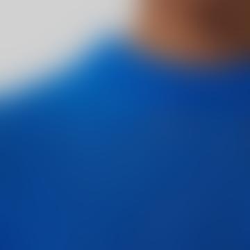 Blue Knitted Merino Wool Jumper
