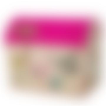 Raffia Play Toy Storage Baskets Large Pink Jungle