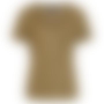 T-shirt Objtessi à col en V kaki