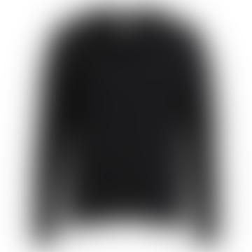 Viril Oversized V-Neck Sweater Black