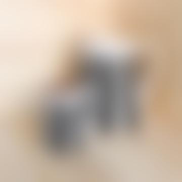 Casa Cubista 2L Bold Stripe Terracotta Pitcher Black