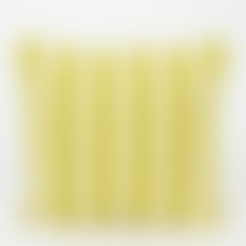 50x50 cm Emanuela Cushion Cover, Mustard Yellow/White