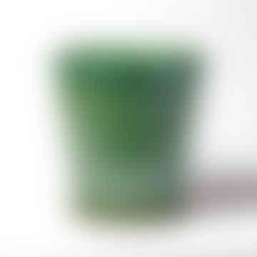 Pot et Soucoupe Émaillés Vert Turquoise - Petit