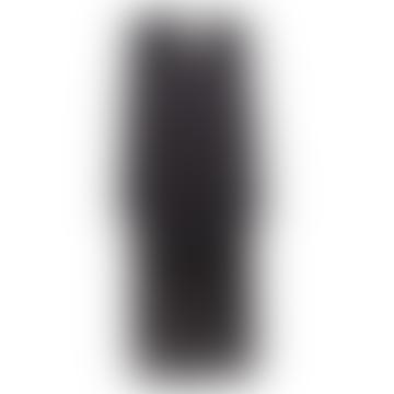 Robe Lurex Imprimé Feuilles Noir