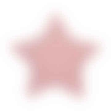Rosa sternförmiges Baumwollkissen