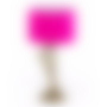 Gold Flamingo Leg  Lamp With Pink & White Shade