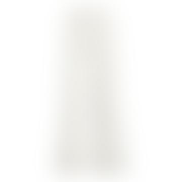 Pantalon Objsibil en velours côtelé blanc