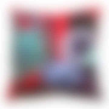 Red Velvet Cactus Cushion - Large