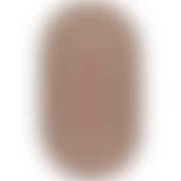 92 x 152cm Oval Misty Blue Organic Jute Rug