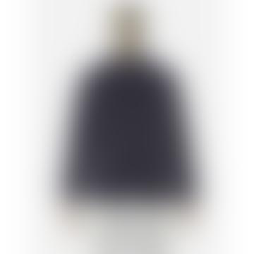 Navy Bakers Jacket Wool Marl