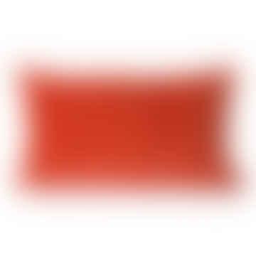 Striped Velvet Cushion Red/Bordeauz 30x50