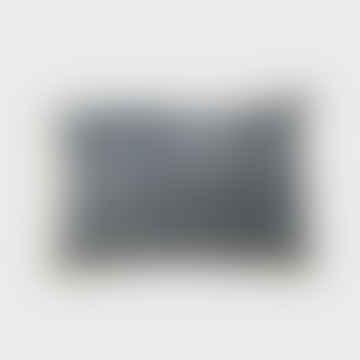 Stonewashed Velvet Cushion Charcoal 40 X 60