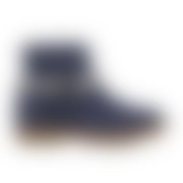 Navy Trip Heart Boots