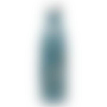 Qwetch 500ml Blue Flowers Water Bottle