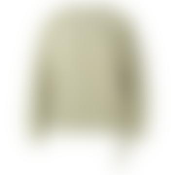 Boxy Sweatshirt with Pocket and Drawstring - Eucalyptus