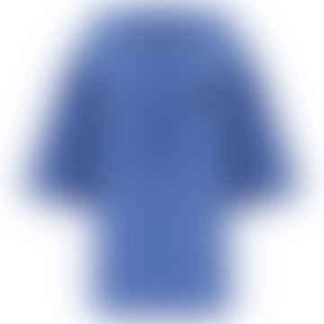 Short Sleeve Hoodie in Wedgewood Blue