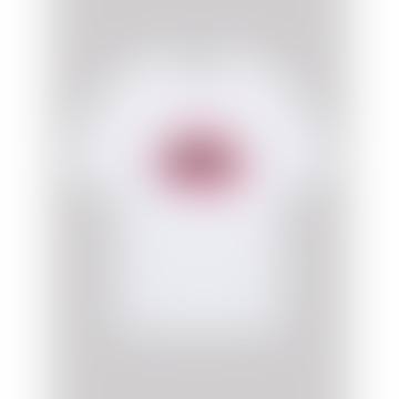 Markus Lupfer Alex Watercolour Lip Tee in White/Pink