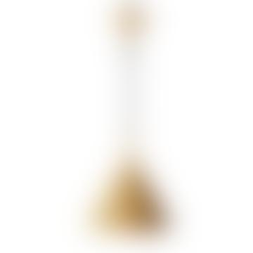 HKliving Matt Ochre Triangular Pendant Lamp