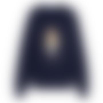 Polo Ralph Lauren Custom Bear Crew Neck Sweatshirt Navy