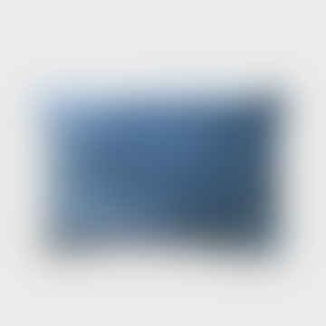 Stonewashed Velvet Cushion Blue 40 X 60