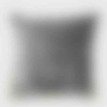 Stonewashed Velvet Cushion Charcoal 60 X 60