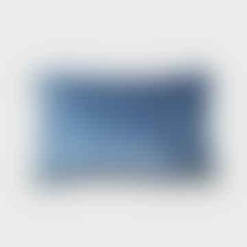 Stonewashed Velvet Cushion Blue 30 X 50