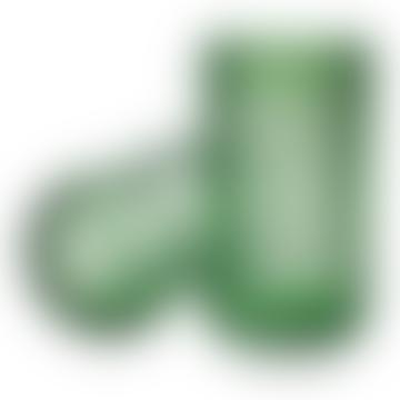 Lyngby Porcelaen Mouth Blown Glass Vase Copenhagen Green 15cm