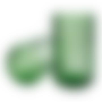 Lyngby Porcelaen Mouth Blown Glass Vase Copenhagen Green 25cm