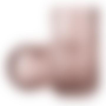 Lyngby Porcelaen Mouth Blown Glass Vase Dark Pink 15cm