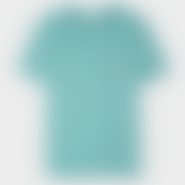 Turquoise Organic Cotton Zebra Logo T Shirt