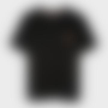 Black Organic Cotton Swirl Heart Logo T Shirt