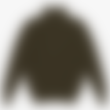 Heavy Rib Turtleneck Olive Sweater
