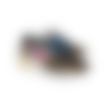 Running Sole Glitter Upper Leather Star Leo Horsy Heel Sneakers