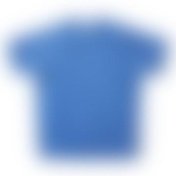 Short Sleeve Crew Neck Sweatshirt Washed Blue