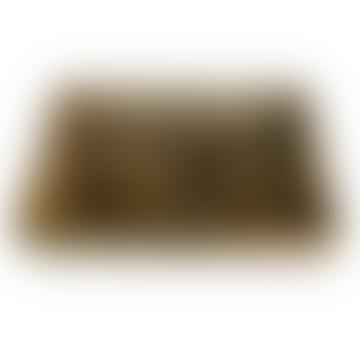livs Rectangular Wooden Tray - Herringbone Pattern: Small