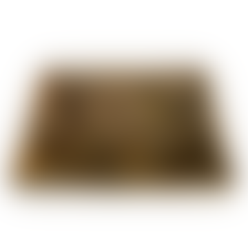 livs Rectangular Wooden Tray - Herringbone Pattern: Large