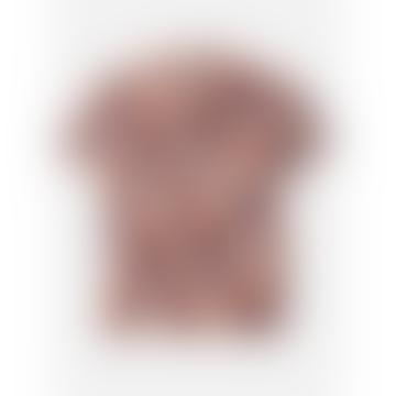Burgundy Chintan Ikat 30 Regular Collar Boxy Fit Short Sleeve Shirt
