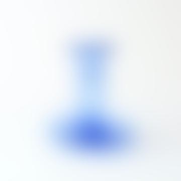 La Soufflerie Hand Blown Glass Candlestick Light Blue