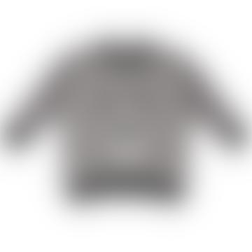 Turtle Dove Bear Face Textured Sweatshirt