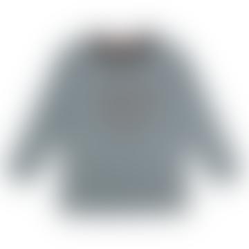 Long Sleeve Steel Bear Applique Top