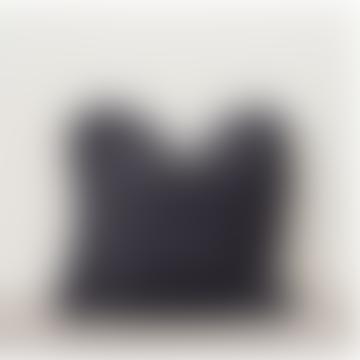 Oli Ruffle Slate Grey Cushion