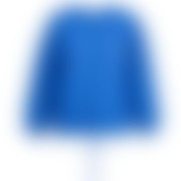 Zetting Cashmere Blend Cardigan In Blue