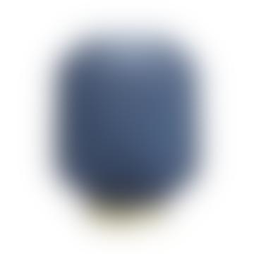 livs Ridged Glass LED Lamp - Matt Blue