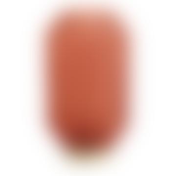 livs Ridged Glass LED Lamp Tall - Burnt Terracotta