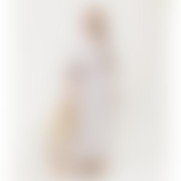 Cream Plum Lesley Sue Linen Dress