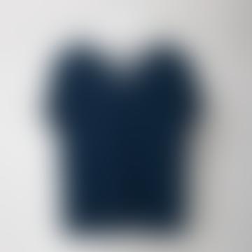 Dulio Navy V Neck T Shirt