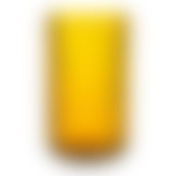 Lyngby Porcelaen  Mouth Blown Glass Vase Amber 25cm