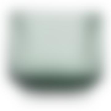 Lyngby Porcelaen Mouth Blown Glass Tealight Holder Copenhagen Green
