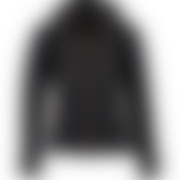 Barbour International Grid Quilt Jacket Black