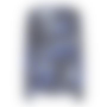Ombre and Azure Leopard Hampton Silk Blouse
